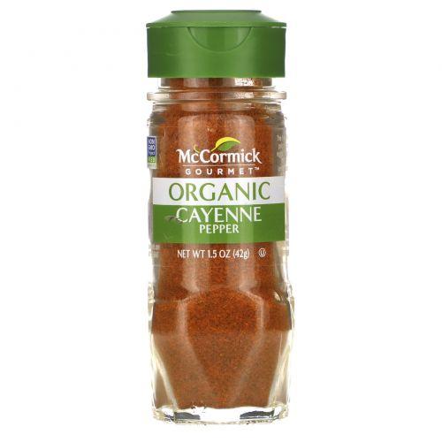 McCormick Gourmet, Organic, Cayenne Pepper, 1.5 oz (42 g)