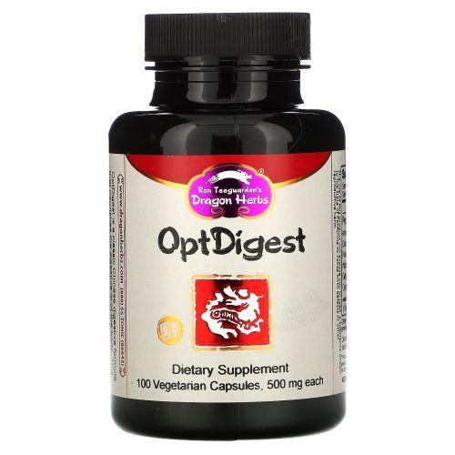 Dragon Herbs, OptDigest, 500 мг, 100 капсул на растительной основе