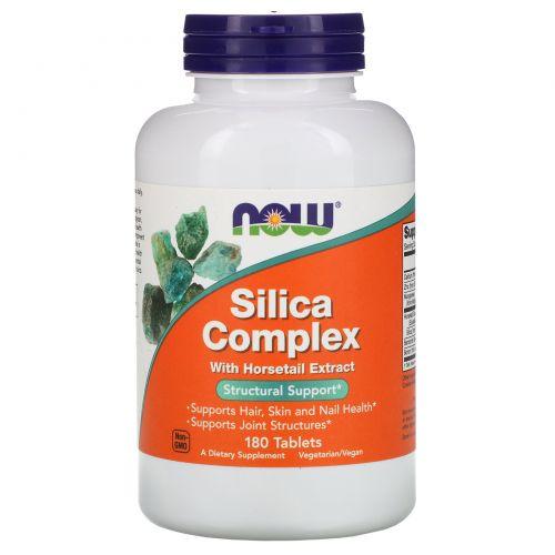 Now Foods, Кремниевый комплекс, 50 мг, 180 таблеток