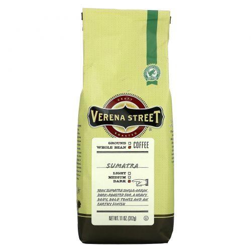 Verena Street, Sumatra, Whole Bean, Dark Roast, 11 oz (312 g)