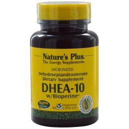 Nature's Plus, ДГЭА-10 с биоперином, 90 растительных капсул