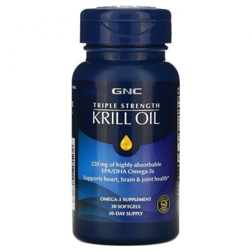 GNC, Triple Strength Krill Oil, 30 Softgels