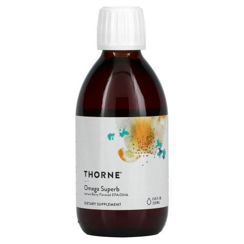 Thorne Research, Omega Superb – Lemon Berry Fish Oil, 8.45 fl oz