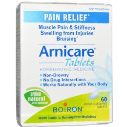 Boiron, Arnicare, обезболивание, 60 быстрорастворимых таблеток
