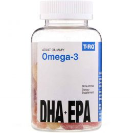 T.RQ, Omega-3, DHA + EPA, Lemon, Orange, Strawberry, 60 Gummies