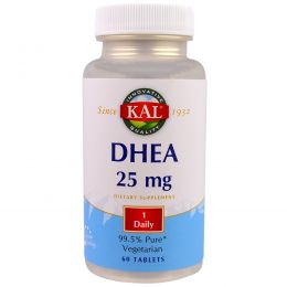 KAL, DHEA, 25 mg , 60 Tablets