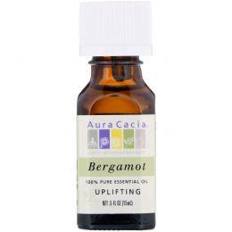 Aura Cacia, 100% чистое эфирное масло бергамота, 0.5 жидкой унции (15 мл)