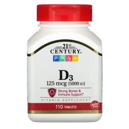 21st Century, Супер сила D3-5000, 110 таблеток