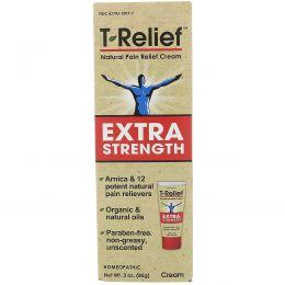MediNatura, T-Relief, сверхсильный натуральный обезболивающий крем, 85 г