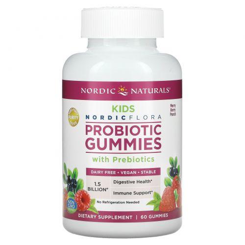 Nordic Naturals, Пробиотические жевательные конфеты, для детей, Веселый ягодный взрыв, 60 жевательных конфет