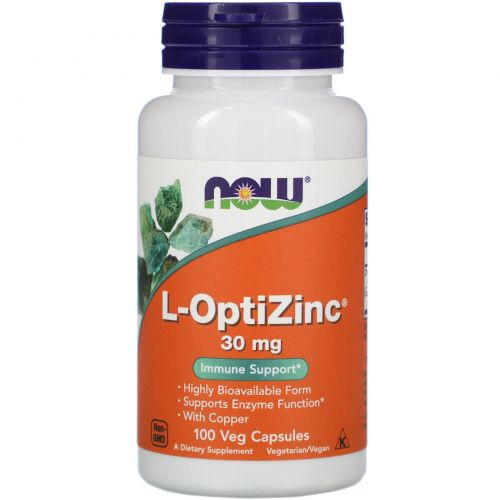 Now Foods, L-OptiZinc, 30 mg, 100 Veggie Caps