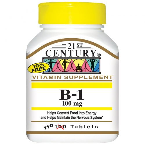 21st Century, B-1, 100 мг, 110 таблеток