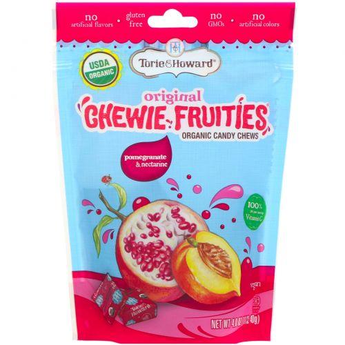 Torie & Howard, Органические, жевательные фруктовые конфеты, гранат и нектарин, 4 унц. (113,4 г)