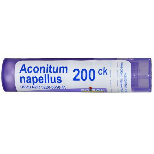 Boiron, Single Remedies, Аконит клобучковый, 200CK, прибл. 80 гранул