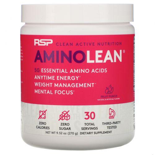 RSP Nutrition, Энергетическая формула Amino Lean, фруктовый заряд, 8,25 унц. (234 г)