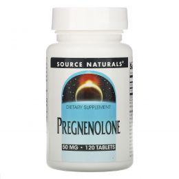 Source Naturals, Прегненолон, 50 мг, 120 таблеток