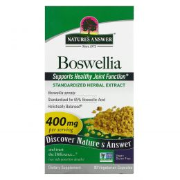 Nature's Answer, Босвеллия (Boswellia), 400 мг, 90 вегетарианских капсул