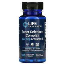 Life Extension, Селеновый комплекс усиленного действия, 100вегетарианских капсул