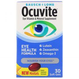 Bausch & Lomb Ocuvite, Формула здоровья глаз, 30 мягких желатиновых капсул