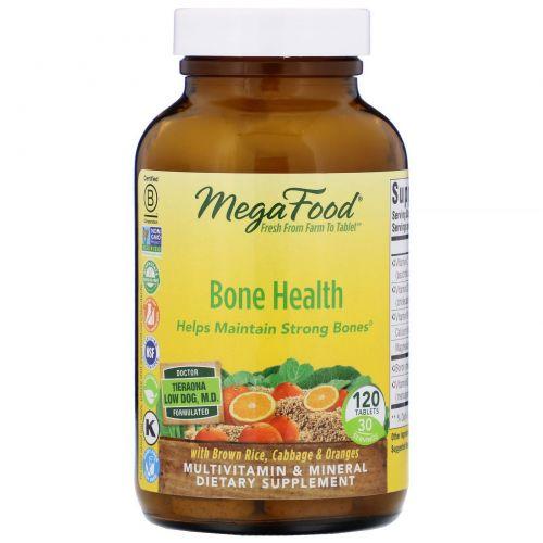 MegaFood, Мультивитамины для здоровых костей, 120 таблеток