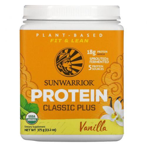 Sunwarrior, Organic Classic Plus, Vanilla, 13.2 oz (375 g)