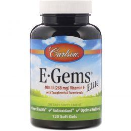 Carlson Labs, E•Gems Elite, 400 МЕ, 120 гелевых капсул