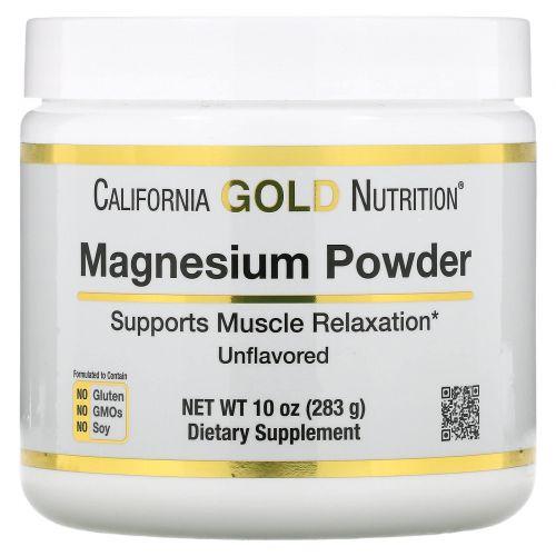 California Gold Nutrition, Magnesium Powder Beverage, Unflavored, 8.7 oz (247 g)