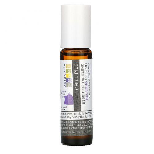 Aura Cacia, Смесь эфирного масла, расслабляющий роликовый аппликатор, успокоительное, 0,31 жидкие унции (9,2 мл)
