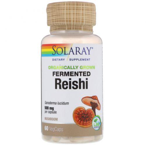 Solaray, Organically Grown Fermented Reishi, 500 mg, 60 Veggie Caps