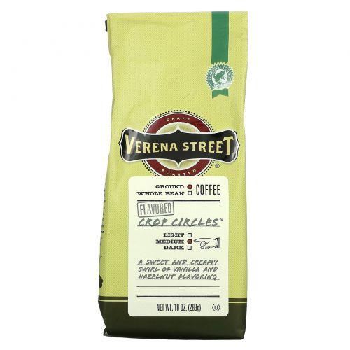 Verena Street, Crop Circles, Flavored, Ground Coffee, Medium Roast, 10 oz (283 g)
