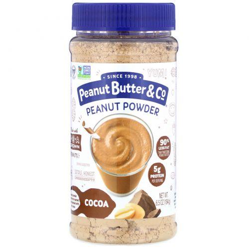 """Peanut Butter & Co., """"Мощный орех"""", порошковое арахисовое масло, шоколад, 6,5 унции, (184 г)"""
