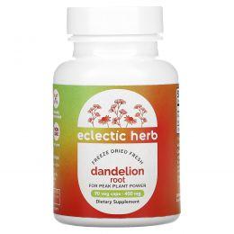 Eclectic Institute, Корень одуванчика, сырой, 400 мг, 90 вегетарианских капсул без ГМО