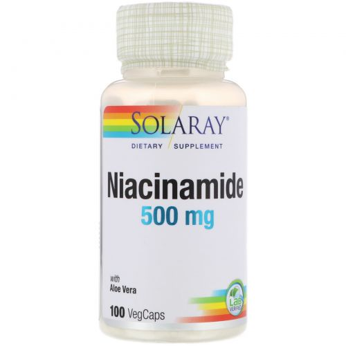 Solaray, Ниацинамид, 500 мг, 100 капсул