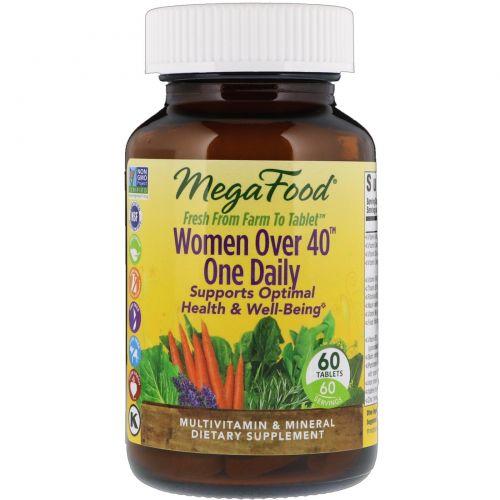 MegaFood, Мультивитамины для женщин за 40, 60 таблеток