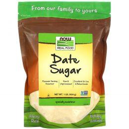 Now Foods, Real Food, Финиковый сахар, 1 фунт (454 г)
