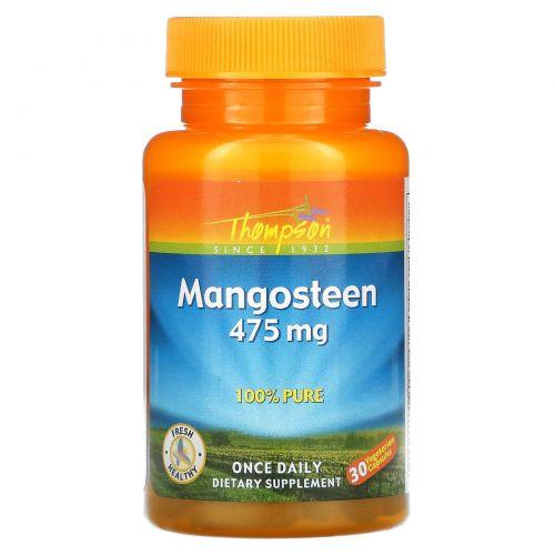 Thompson, Мангостин, 475 мг, 30 растительных капсул