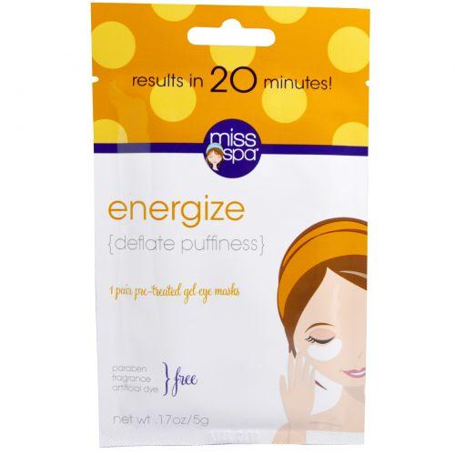 Miss Spa, Miss Spa Pre-Treated Gel Eye Mask Energize
