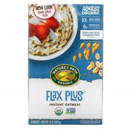 Nature's Path, Flax Plus, Instant Oatmeal, 8 Packets, 50 g Each