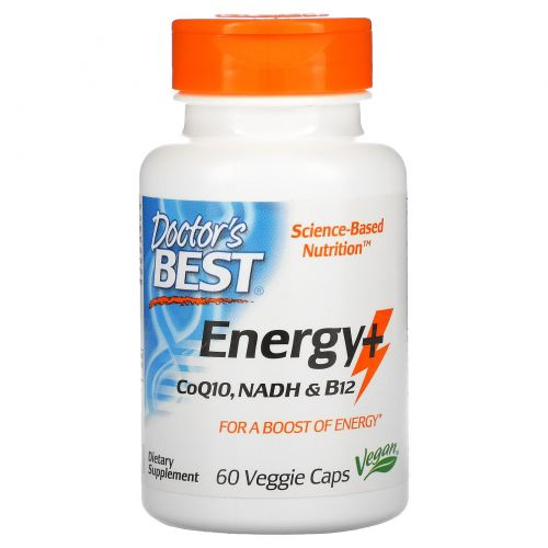 Doctor's Best, Energy+ CoQ10, NADH & B12, 60 Veggie Caps