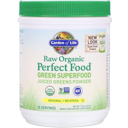 Garden of Life, Сырая органическая идеальная пища, зеленая суперпища, оригинал, 7,4 унций (209 г)