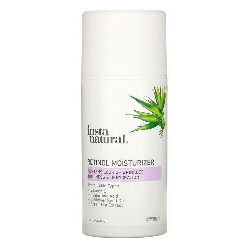 InstaNatural, Крем Retinol Vitamin з с витамином С и гиалуроновой кислотой, омолаживающий, 100 мл (3,4 жидкие унции)