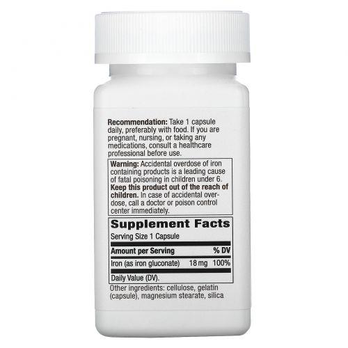 Nature's Way, Комплекс железа, 18 мг, 100 капсул