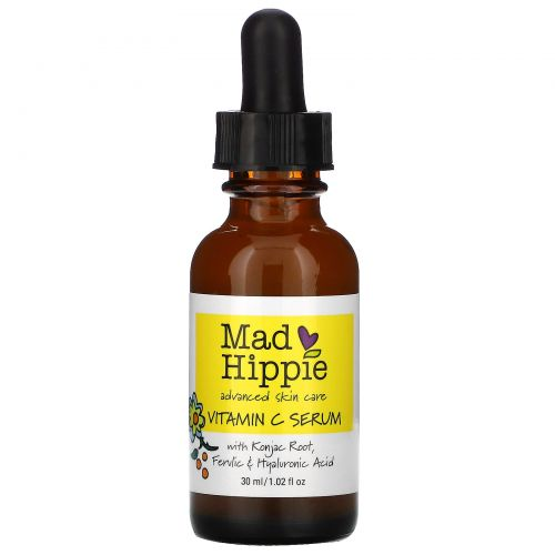 Mad Hippie Skin Care Products, Сыворотка витамина С, 8 активных веществ, 1,02 жидких унции (30 мл)