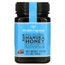 Wedderspoon, 100%-ный сырой мед мануки, КФактор 12, 17,06 унции (250 г)