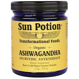 Sun Potion, Порошок Ashwaganda , Органический,  3,9 унции (111 г)