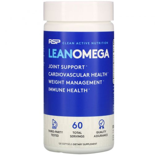 RSP Nutrition, Lean Omega, Omegas+Weight Loss, 120 Softgels