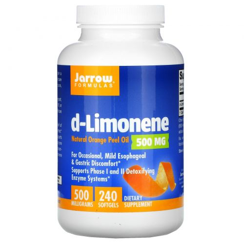Jarrow Formulas, d-лимонен, 500 мг, 240 мягких таблеток