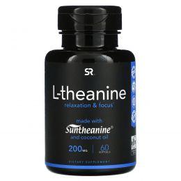 Sports Research, L-тианин, 200 мг, 60 мягких желатиновых капсул с жидкостью