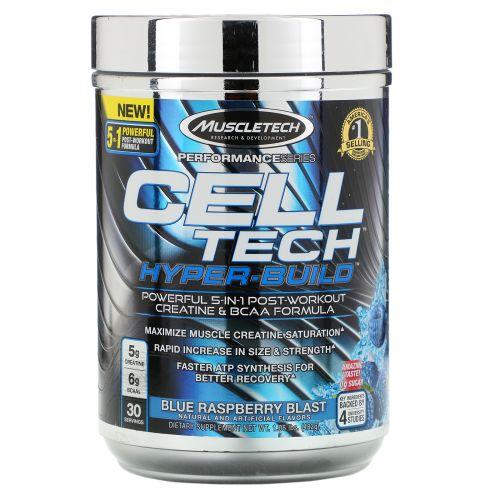 Muscletech, Performance Series, Cell Tech Hyper-Build, Blue Raspberry Blast, 1.06 lbs (482 g)