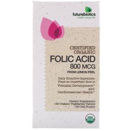 FutureBiotics, Фолиевая кислота из шкурок лимона, 120 органических вегетарианских таблеток